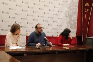 El concejal Puntedura, junto a Olga Garzón y Mar Solera.