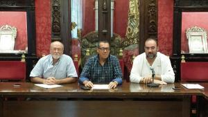 Puentedura, con Coello y Vigueras.