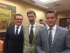 Salvador con los otros representantes de C's en la Comisión de Fomento.
