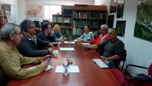 Imagen de la reunión celebrada por IU y Ecologistas en Acción.