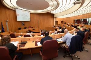 Reunión celebrada en la Diputación.