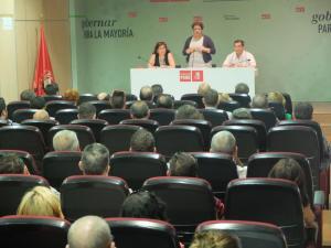 Teresa Jiménez, en la reunión de Granada.
