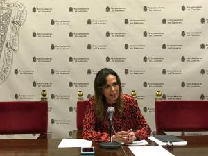 Rocío Díaz en rueda de prensa.