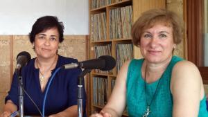 María Jesús Castaño (dcha.) y Rosa Martín.
