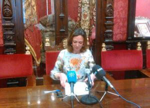Rocío Díaz, en rueda de prensa.