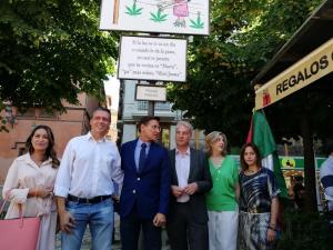 Salvador, esta mañana, junto al ganador de las carocas, y concejales de Cs y Vox.