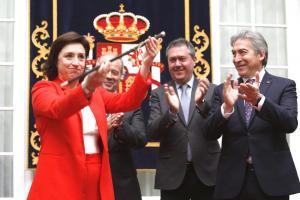 Sandra García, durante su toma de posesión como delegada del Gobierno en Andalucía.