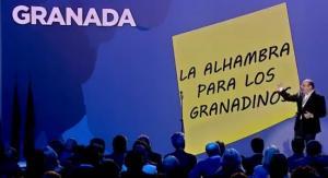 Sebastián Pérez, durante su intervención en la Convención del PP.