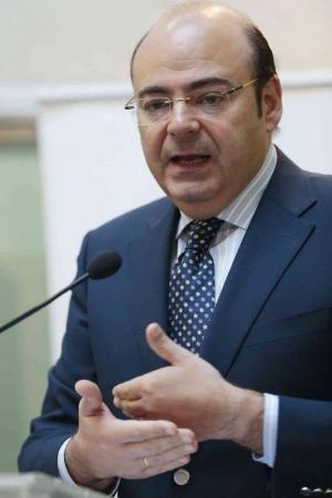 Sebastián Pérez en un acto como presidente de la Diputación.