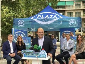 Sebastián Pérez en la presentación de la iniciativa.
