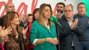 Susana Díaz, en la noche electoral del 2D.