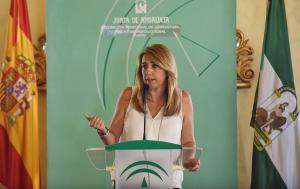 La presidenta de la Junta, Susana Díaz, este miércoles en Almería.