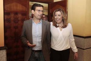Francisco Cuenca junto a Susana Díaz en un acto del PSOE andaluz en Granada.