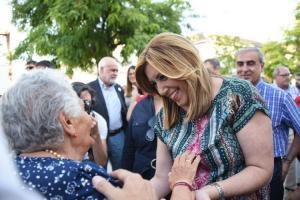 Susana Díaz en Granada, en la última campaña electoral.
