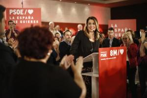 Susana Díaz, en el mitin celebrado este lunes en Granada.