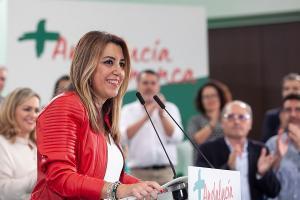 Susana Díaz, durante su intervención ante el Comité Director del PSOE-A.