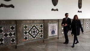 El alcalde de Granada y la presidenta de la Junta, este jueves.