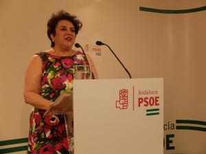 Teresa Jiménez, en la rueda de prensa de este jueves.