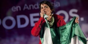 Teresa Rodríguez en una imagen de la última campaña de las Generales.