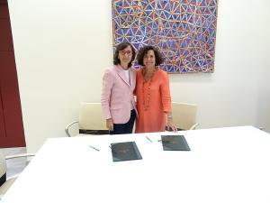Rosa Aguilar y Pilar Aranda.
