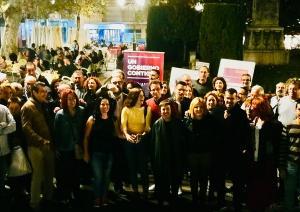 Foto de familia de la candidatura de Unidas Podemos.