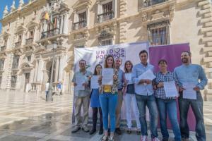 Candidatos y candidatas de Unidos Podemos, ante el TSJA.