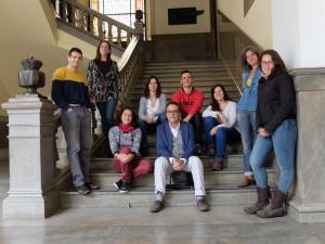 Los integrantes de Vamos Granada, en una imagen en la Plaza del Carmen.