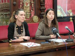 Pilar Rivas junto a Marta Gutiérrez.