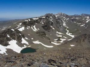 Vista de los picos de Sierra Nevada.