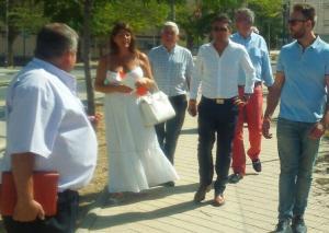 Olivares en su visita a Parque Nueva Granada.