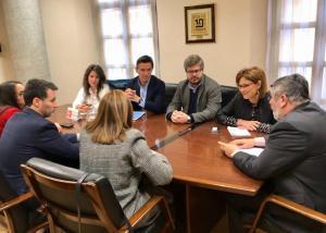 Reunión de representantes de Ciudadanos con la ONCE.