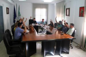 Votación en el pleno de Lanjarón.