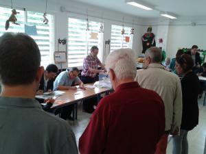 Imagen de un colegio electoral de la capital.