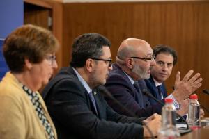 Alejandro Hernández, en rueda de prensa.