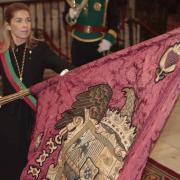 La concejala del PP Raquel Fernández en la Capilla Real.