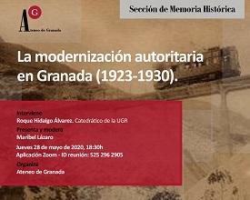 Ateneo de Granada. Ponencia telemática del catedrático Roque Hidalgo Álvarez.