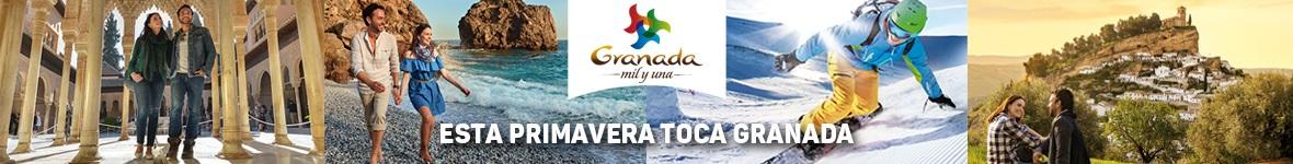 Versión móvil Campaña Esta Primavera Toca Granada. Patronato Turismo