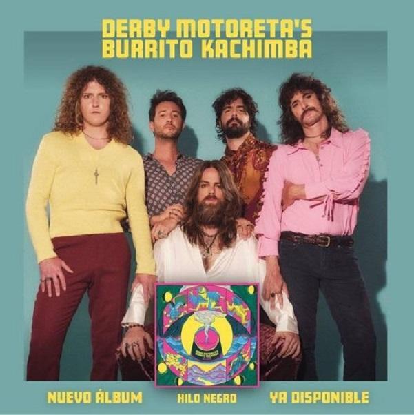 Los componentes de Derby Motoreta's Burrito Kachimba con su nuevo disco 'Hilo negro'.