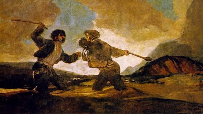 'Duelo a garrotazos', la célebre obra de Goya.