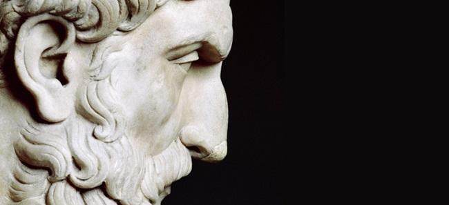 Estatua de Epicuro.