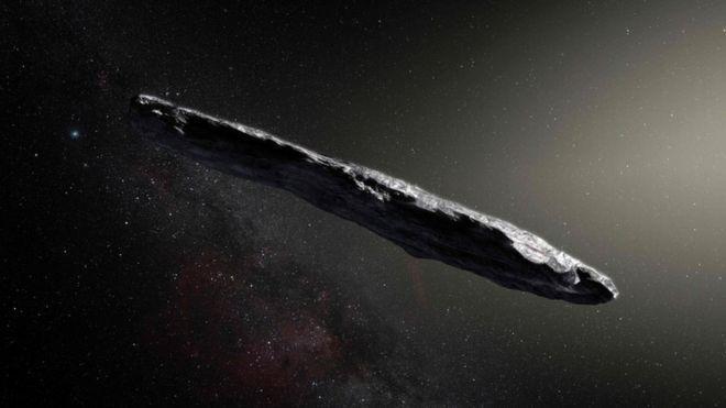 Imagen que la Agencia Espacial Europea (ESA, en sus siglas en inglés) hizo de Oumuamua en junio pasado.