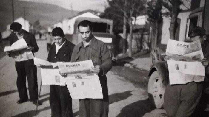 El Avance de Oviedo, diario del Sindicato Obrero Minero de Asturias (SOMA), literalmente arrasado por las tropas franquistas.