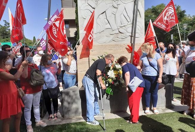 Homenaje a los obreros de la construcción, el pasado 2 de julio.