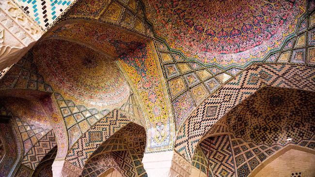 Mezquita de Nasir Al-Mulk, Irán.