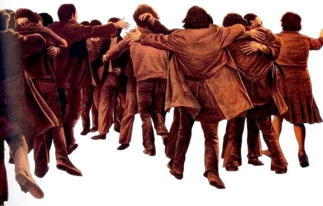 'El abrazo' (1976), de Juan Genovés.