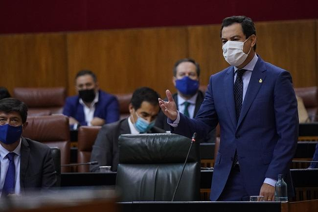 El presidente de la Junta, en el Parlamento.