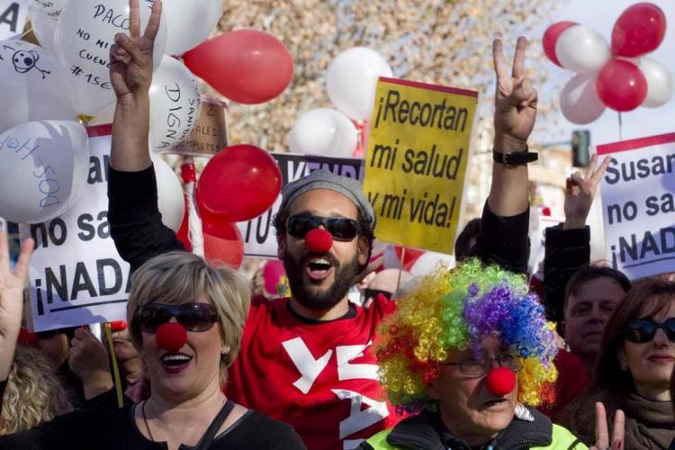 El doctor Candel, en la multitudinaria manifestación del domingo pasado.