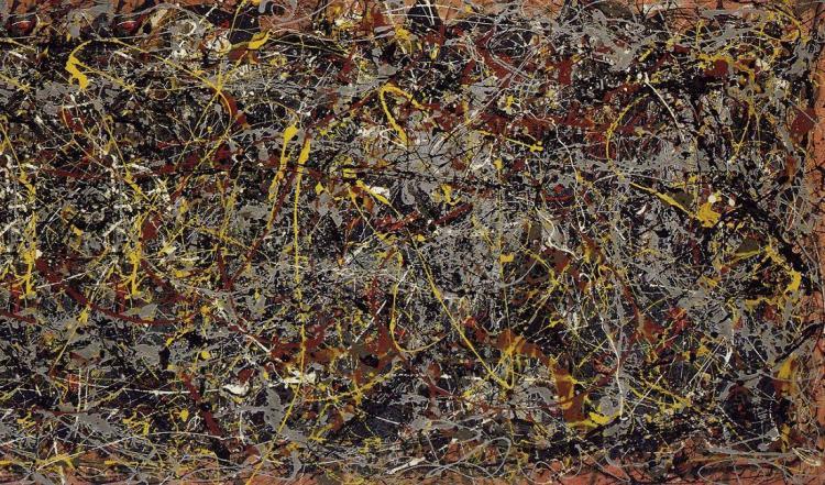 Number 5, 1948, de Jackson Pollock.