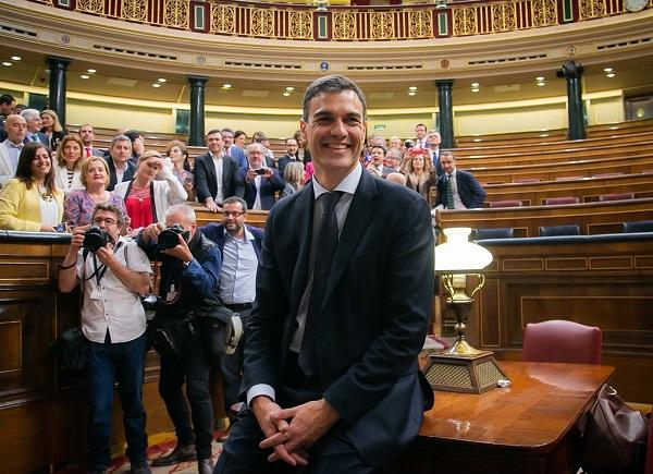 Pedro Sánchez, tras ser investido presidente.