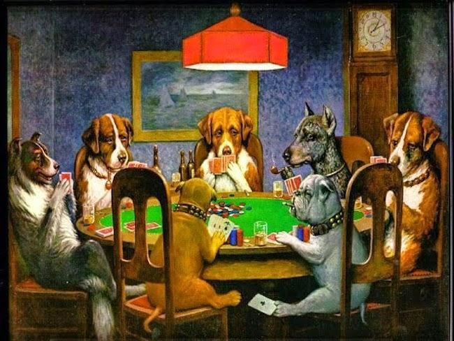 'Dogs Playing Poker' (1903) de C.M. Coolidge.